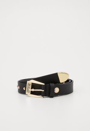 PIN BUCKLE WIDE BELT - Pasek - nero/oro