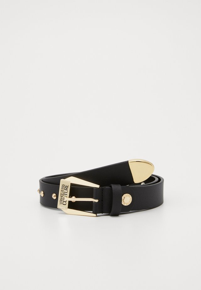 PIN BUCKLE WIDE BELT - Cintura - nero/oro