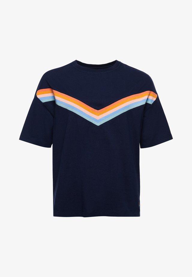 T-shirt med print - nautical navy
