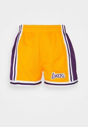 NBA LOS ANGELES LAKERS WOMENS JUMP SHOT SHORT - Club wear - yellow