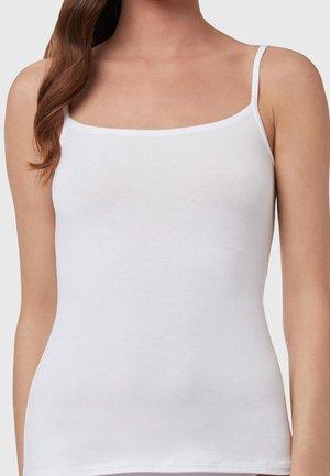 TOP AUS MODAL MIT RUNDEM AUSSCHNITT - Undershirt - white