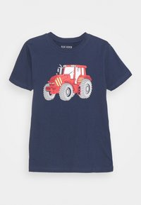 Blue Seven - SMALL BOYS MOTORCYCLE TRACTOR 2 PACK - T-shirt con stampa - yellow/dark blue - 1