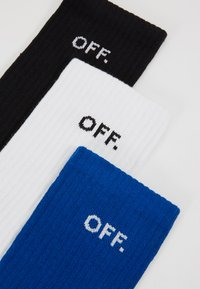 Mister Tee - OFF SOCKS 3 PACK - Ponožky - blue/black/white - 2