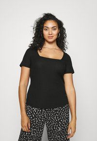 Even&Odd Curvy - T-shirts med print - black - 0