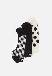 Happy Socks - FILLED DOT LINER SOCK 3 PACK UNISEX - Sukat - black/white - 1