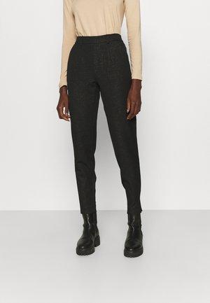 OBJLISA PANT GLITTER - Trousers - black