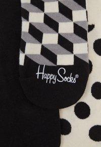 Happy Socks - FILLED DOT LINER SOCK 3 PACK UNISEX - Sukat - black/white - 2