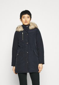 Dorothy Perkins - TRIM COAT - Zimní kabát - navy - 0