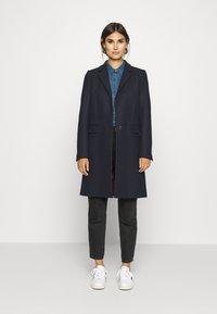 Tommy Hilfiger - BLEND CLASSIC COAT - Classic coat - desert sky - 1
