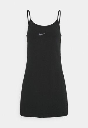 TAPE DRESS - Jersey dress - black