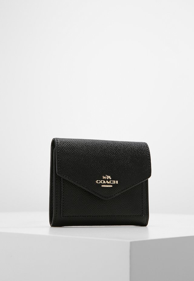 CROSSGRAIN LEATHER SMALL WALLET - Portemonnee - black