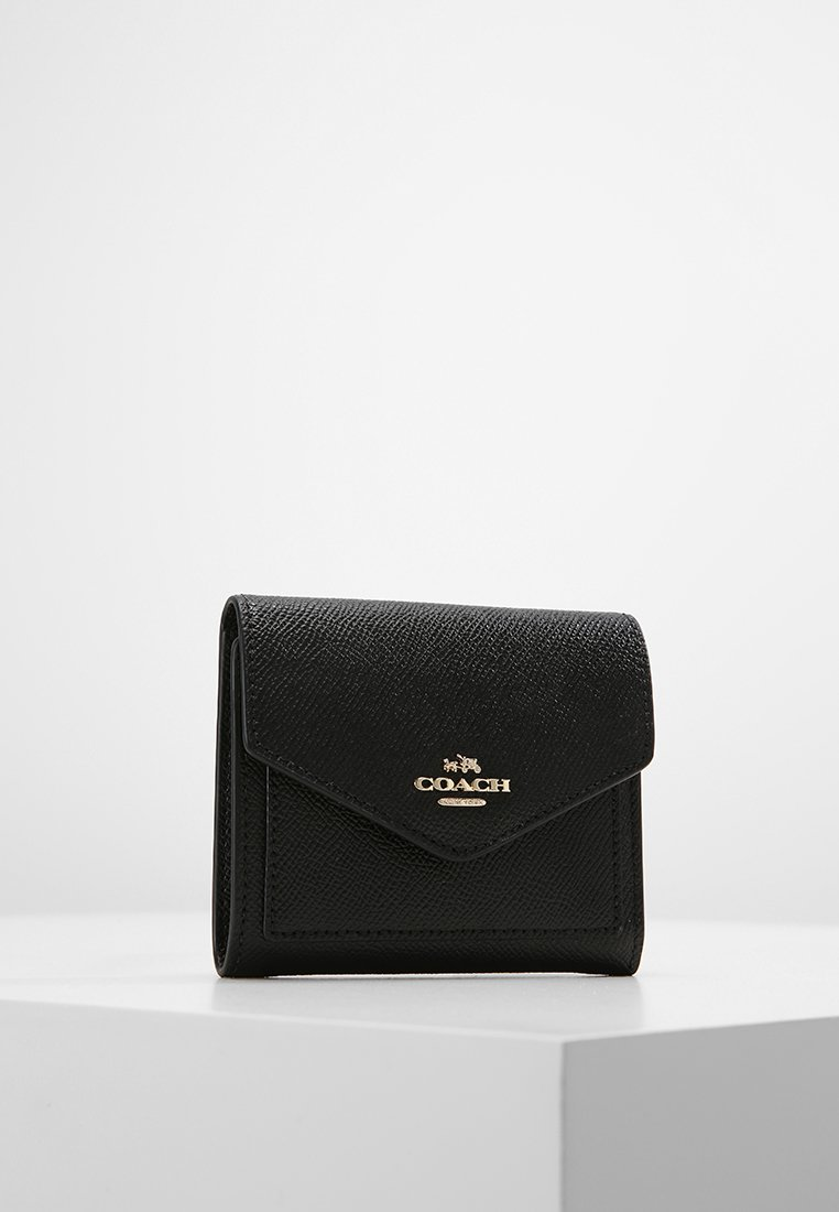 Coach - CROSSGRAIN LEATHER SMALL WALLET - Geldbörse - black