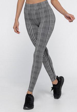 HOUNDSTOOTH  - Leggings - black/white