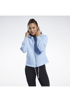 TRAINING ESSENTIALS LOGO HOODIE - Sudadera con cremallera - blue