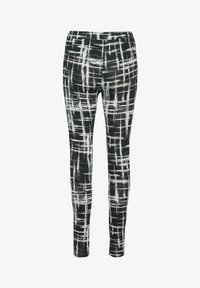 Kaffe - KAPAPPI  - Leggings - black/white stroke check - 1