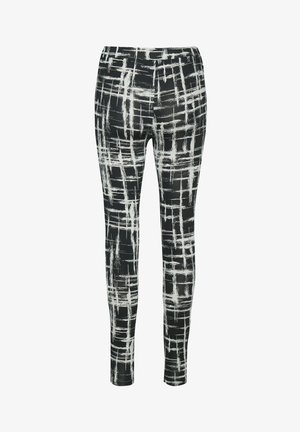 KAPAPPI  - Leggings - black/white stroke check