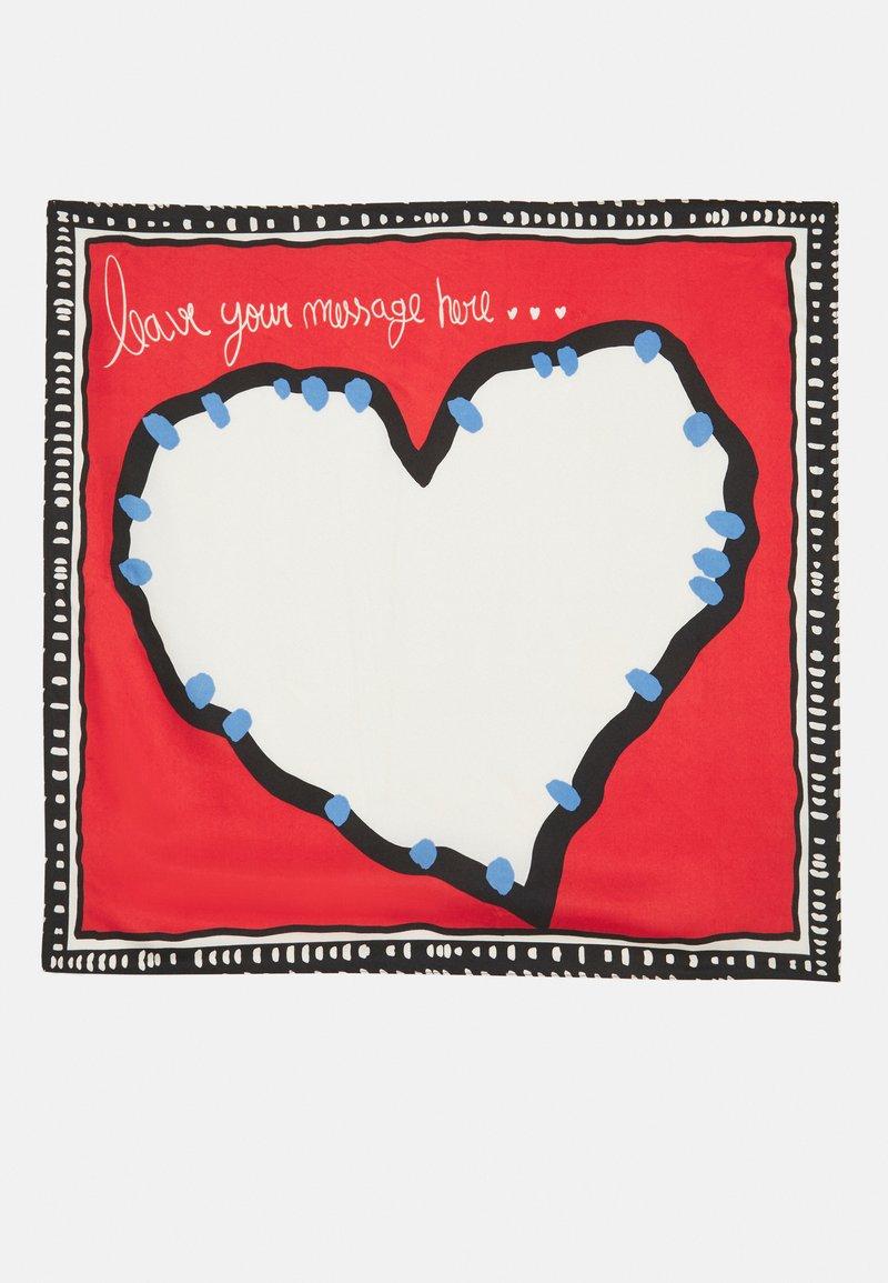 PARFOIS - SQUARE SCARF LOVE BATTLE SET - Šátek - red