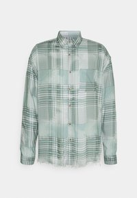 Mennace - FRAYED CHECK SHIRT UNISEX - Button-down blouse - green - 4