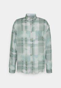 FRAYED CHECK SHIRT UNISEX - Overhemdblouse - green