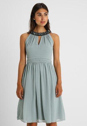 Koktejlové šaty/ šaty na párty - blue grey