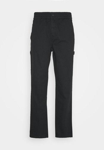 EASY WAIST CARPENTER PANT - Broek - black
