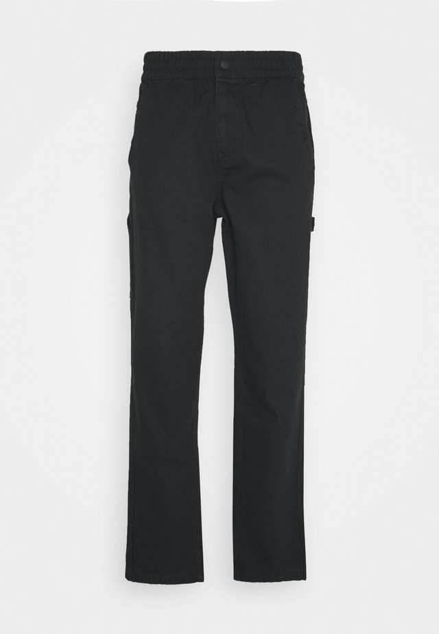 EASY WAIST CARPENTER PANT - Trousers - black