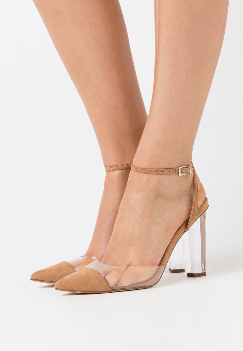 Dorothy Perkins - ETSIE PERSPEX HEEL COURT - High heels - nude