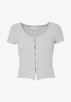 Camiseta estampada - mottled light grey