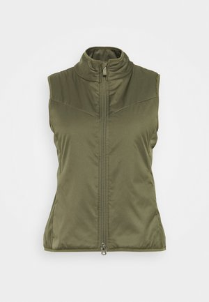WARM FILLED VEST - Kamizelka - medium olive/orewood