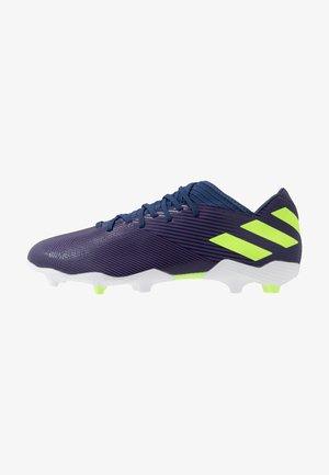 NEMEZIZ MESSI 19.3 FG - Fodboldstøvler m/ faste knobber - tech indigo/signal green/footwear white