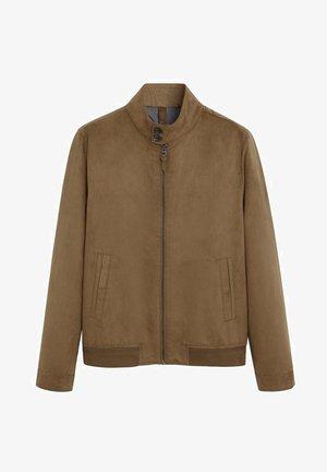 SIENA - Faux leather jacket - mittelbraun