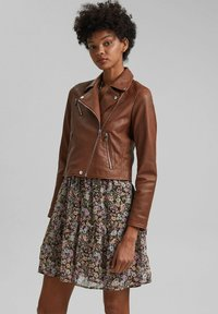 edc by Esprit - Leather jacket - caramel - 0
