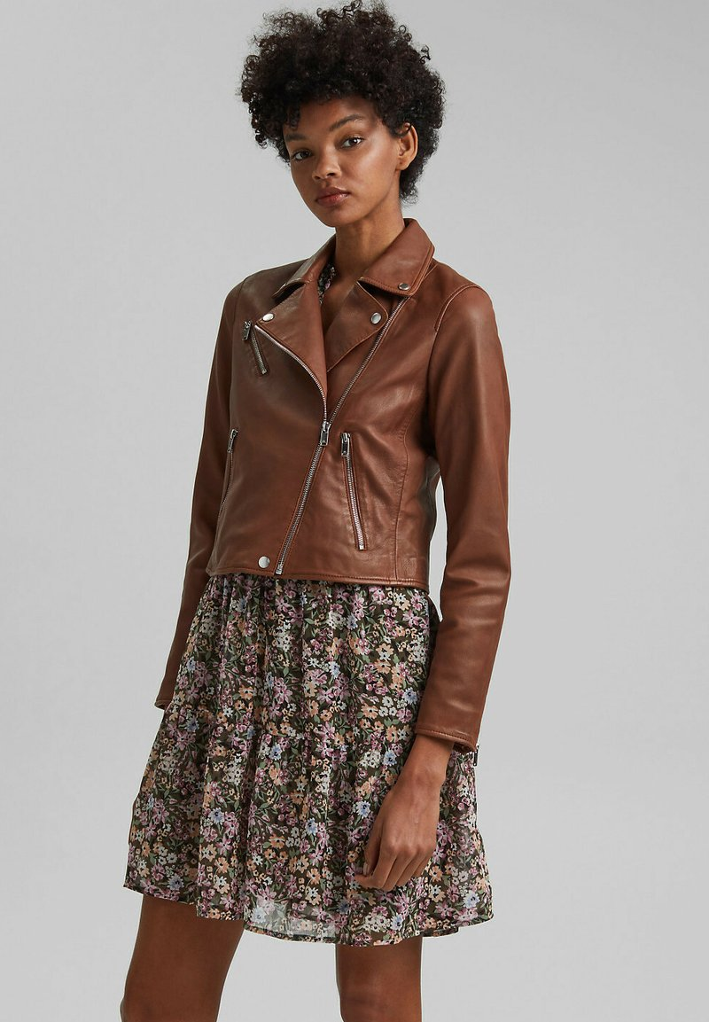 edc by Esprit - Leather jacket - caramel