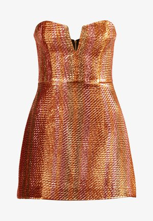 ELECTRIC NIGHTS MINI DRESS - Sukienka koktajlowa - copper