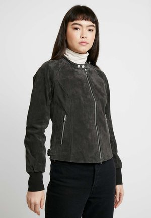 TIMELESS ONE - Leather jacket - dark grey