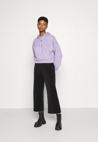 Monki - CORIE TROUSERS - Trousers - black dark - 1