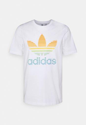 TREF OMBRE UNISEX - T-shirt print - white