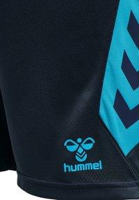 Hummel - HMLACTION  - Sports shorts - black iris/atomic blue - 4