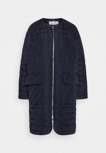 THINK ABOUT LONG COAT - Classic coat - navy blue