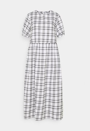 PUFF SMOCK MIDI DRESS  - Day dress - white