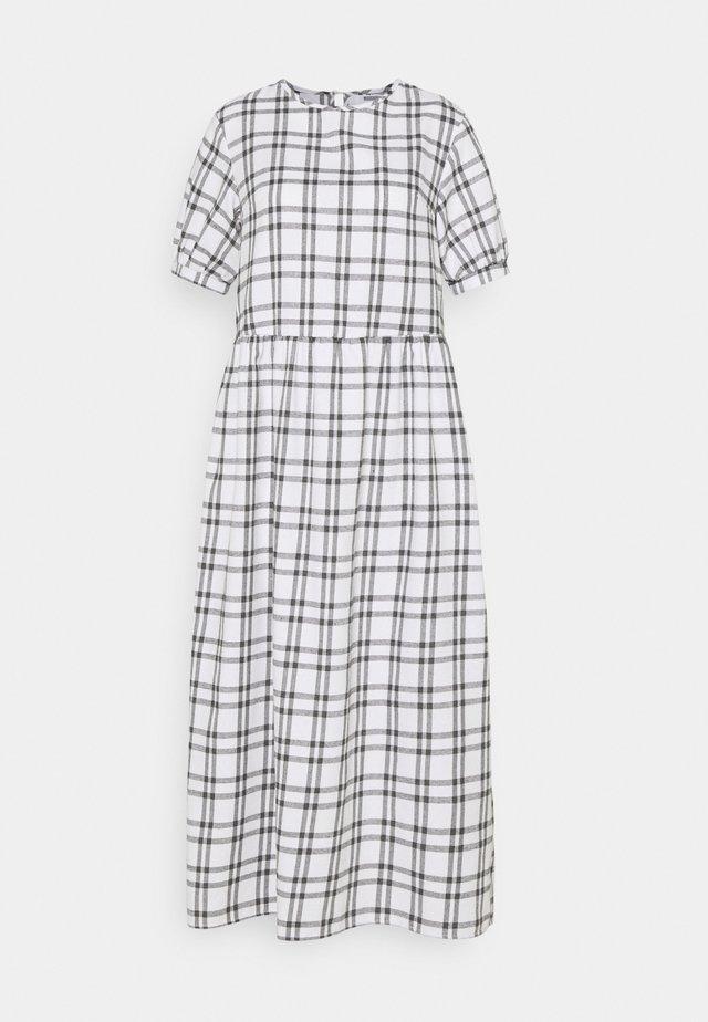 PUFF SMOCK MIDI DRESS  - Denní šaty - white