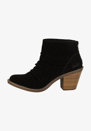 Ankle boots - black soft nubuck