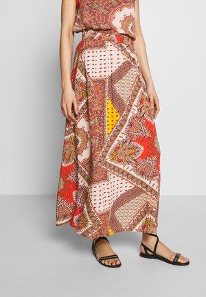 ONLNOVA LONG SKIRT  - Maxi skirt - lotus/flame