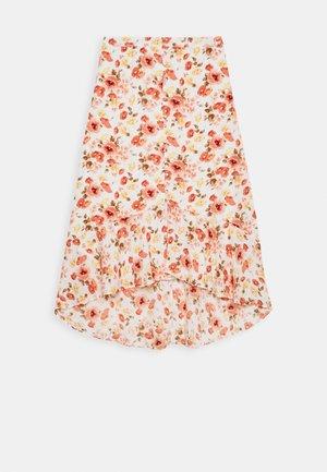 RUFFLE WRAP MIDI  - A-line skirt - white