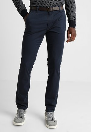 WITH BELT PANTS - Trousers - total eclipse blue