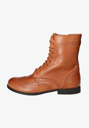 Lace-up ankle boots - hazelnut