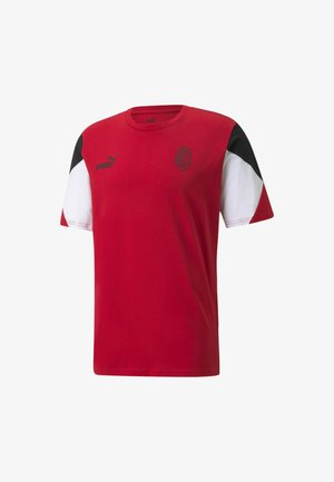 AC MAILAND FTBLCULTURE  - Print T-shirt - tango red  black