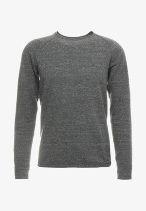 JJEUNION CREW NECK ESSENTIALS - Jumper - dark grey melange