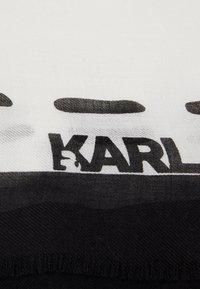 KARL LAGERFELD - IKONIK GRAFFITI SCARF - Foulard - black/white - 3