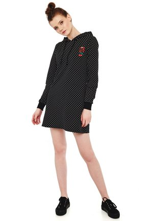 CHERRIES DOTS - Jersey dress - schwarz allover